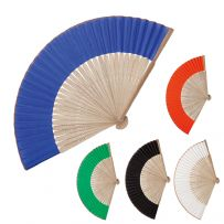 Pack of Ten Bamboo Handheld Fans